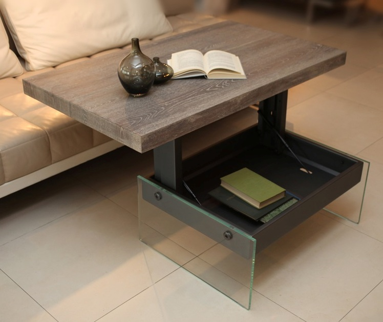 Coffee Table to Desk Transfomer for Small Spaces