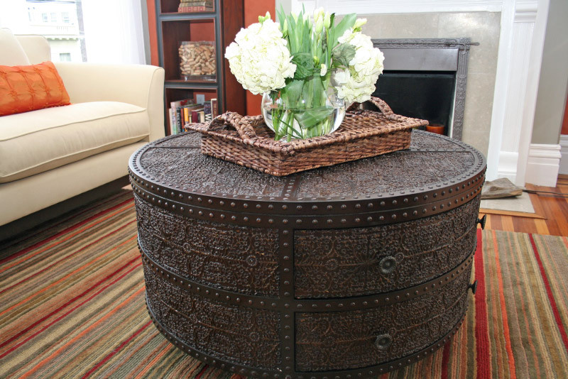 Decorative Circular Coffee Table Tables