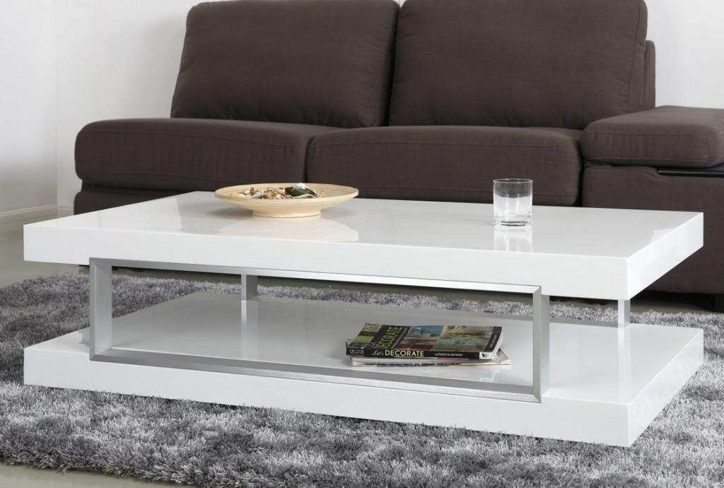 Extra White Rectangular Coffee Table