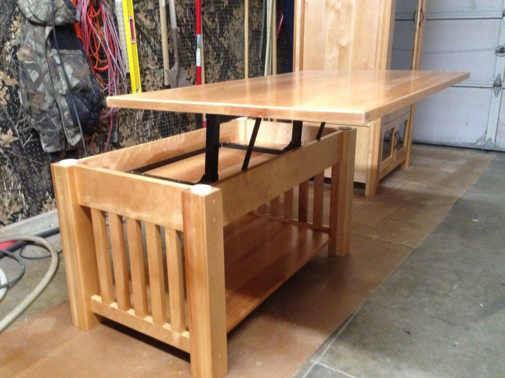 Handmade Mission Coffee Table with Sliding Top