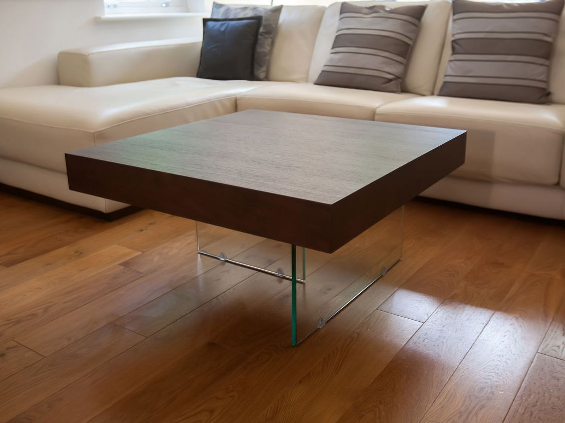 Modern Dark Wood Coffee Table