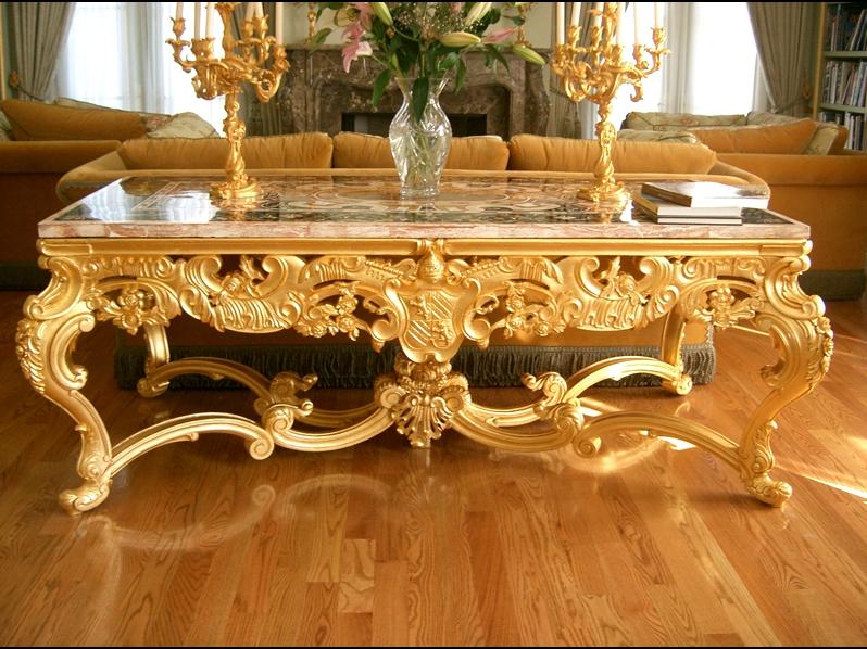 Beautiful Gold Coffee Table