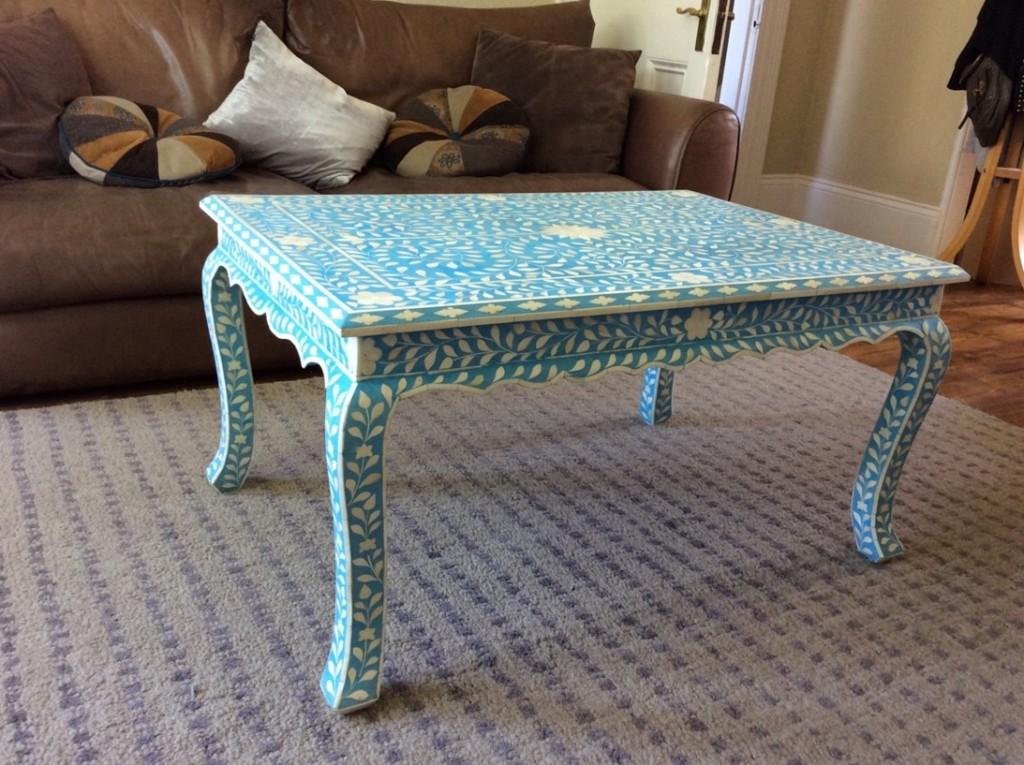 Blue Coffee Table Decor