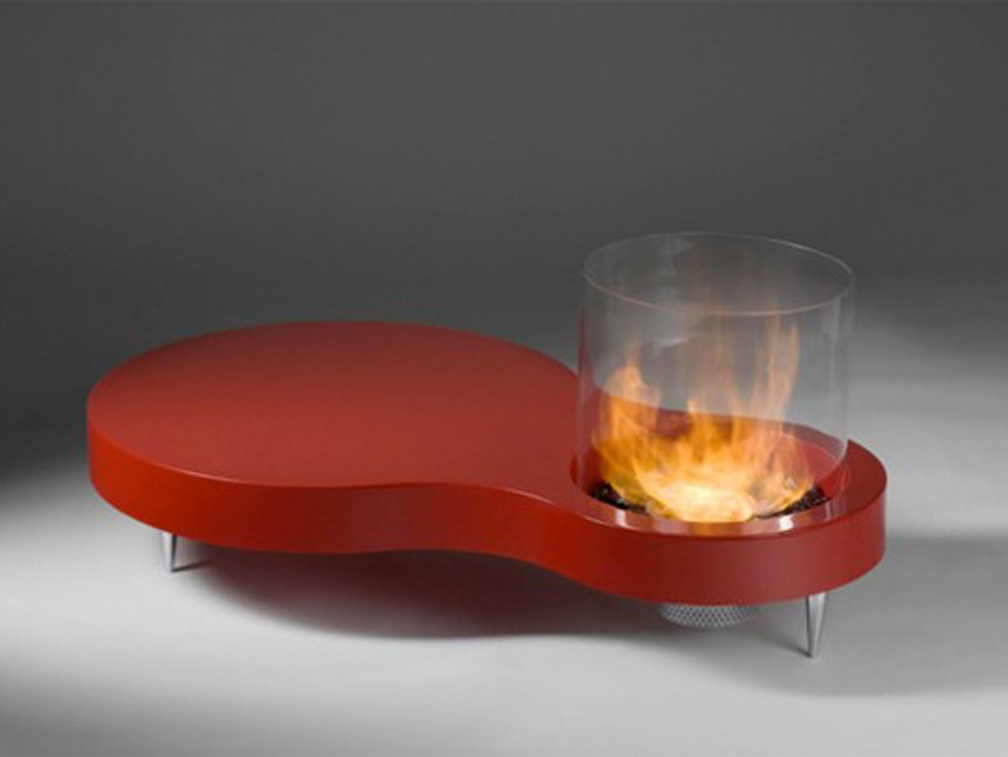 Cool Coffee Table with Dancing Flames