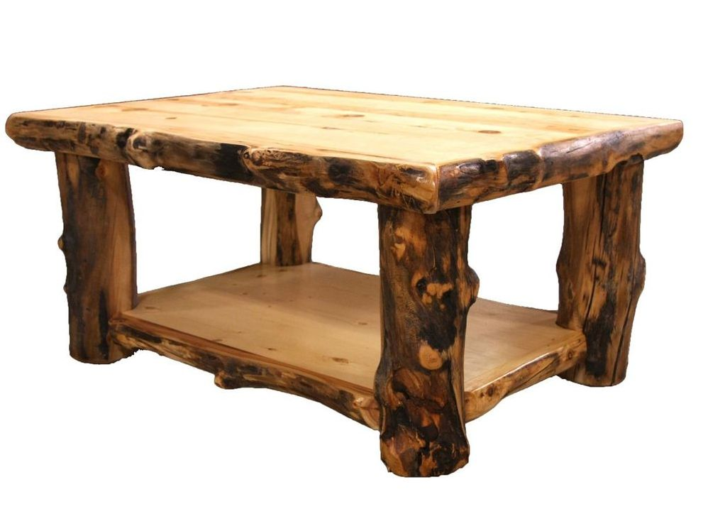 Country Log Coffee Table