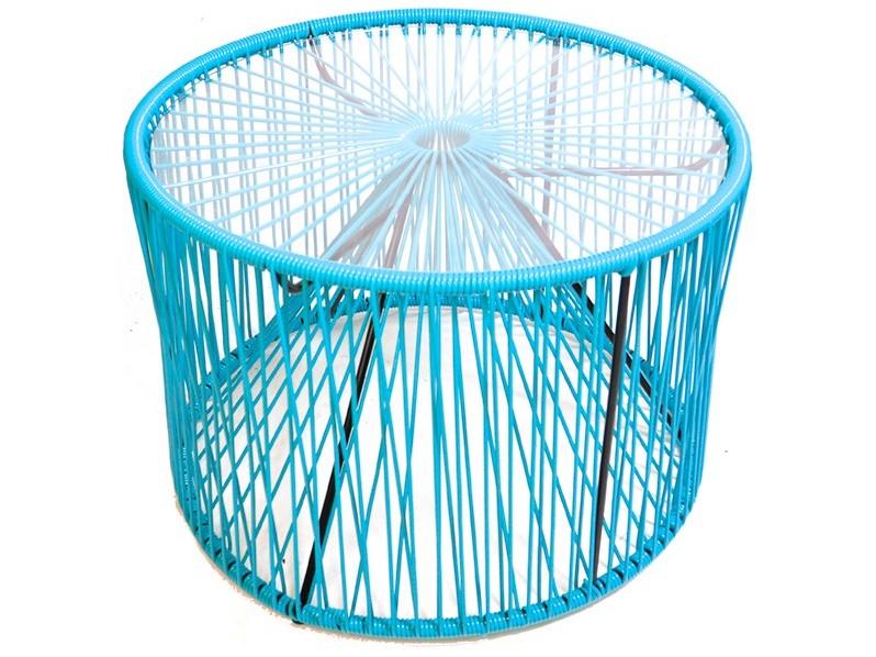 Drum Blue Coffee Table
