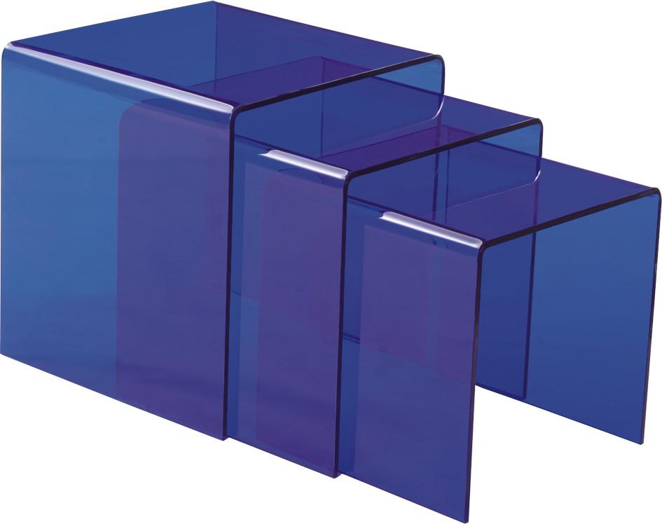Modern Blue Coffee Table