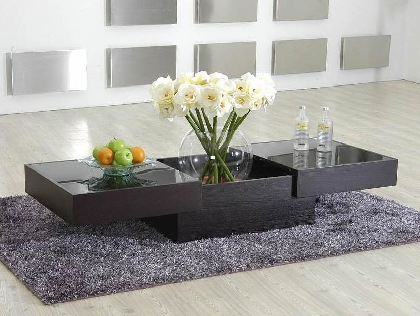Modern Coffee Table with Sliding Top