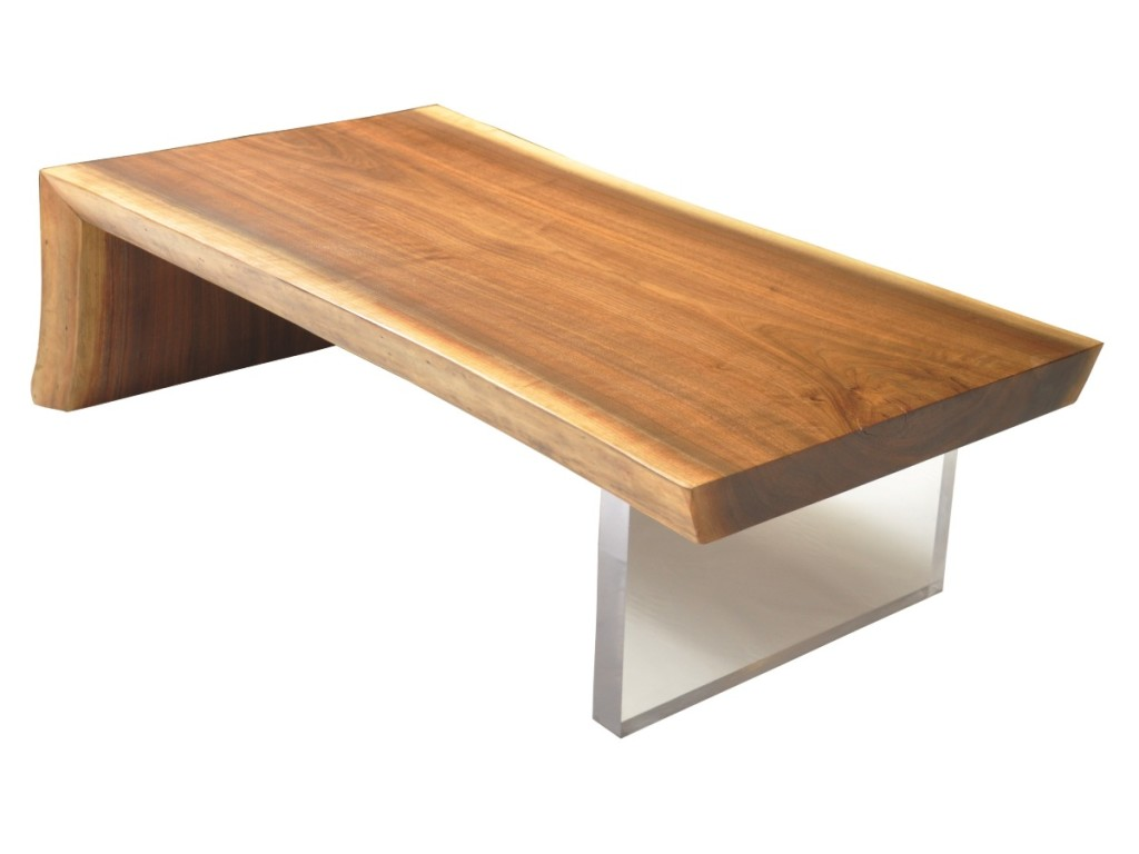 Raw Wood Slab Coffee Table