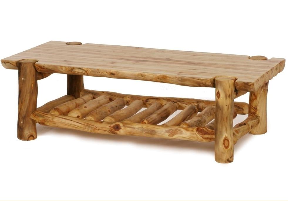 Stylish Log Coffee Table
