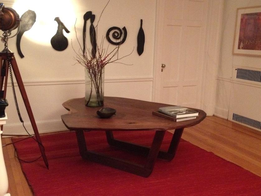 Walnut Wood Slab Coffee Table