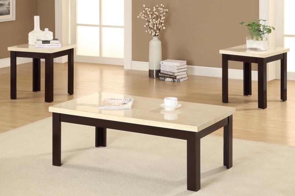 Cream Coffee Table Set