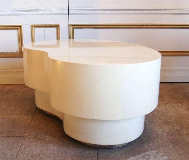 Glossy Cream Coffee Table