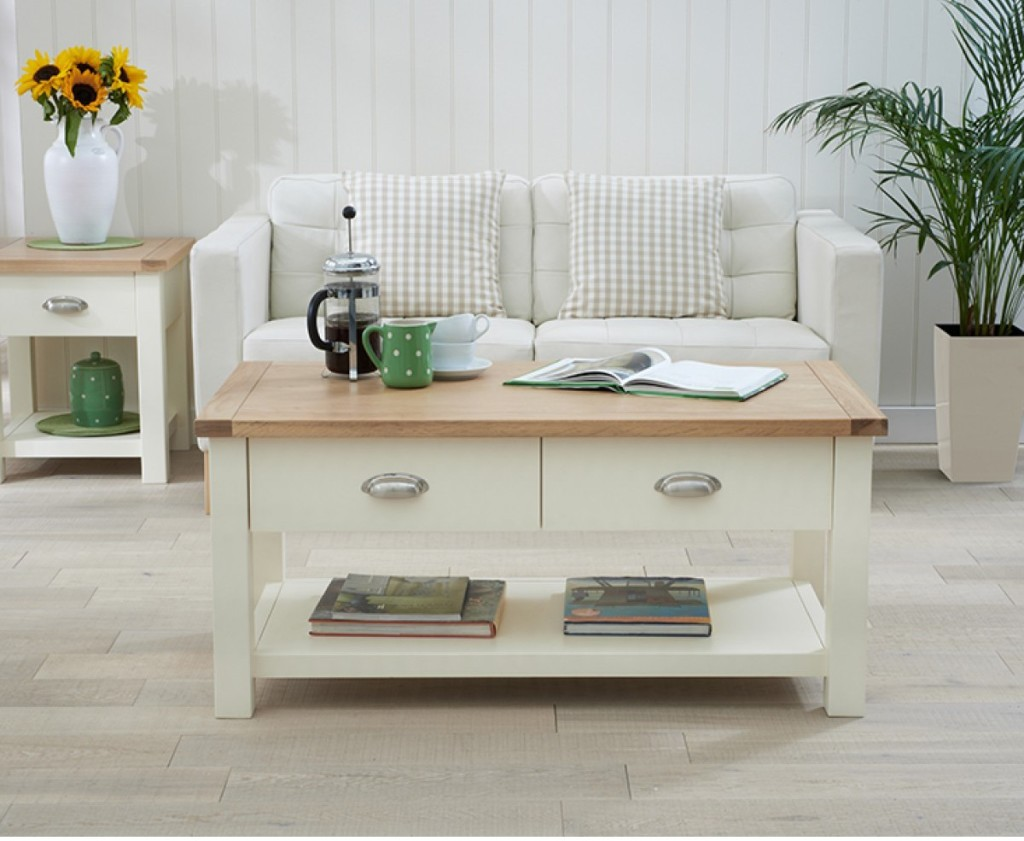Wooden Cream Coffee Table