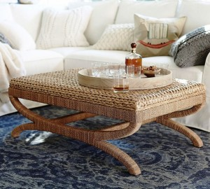 Natural Seagrass Coffee Table