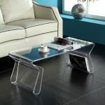 Acrylic Coffee Table with Shelf-Legs