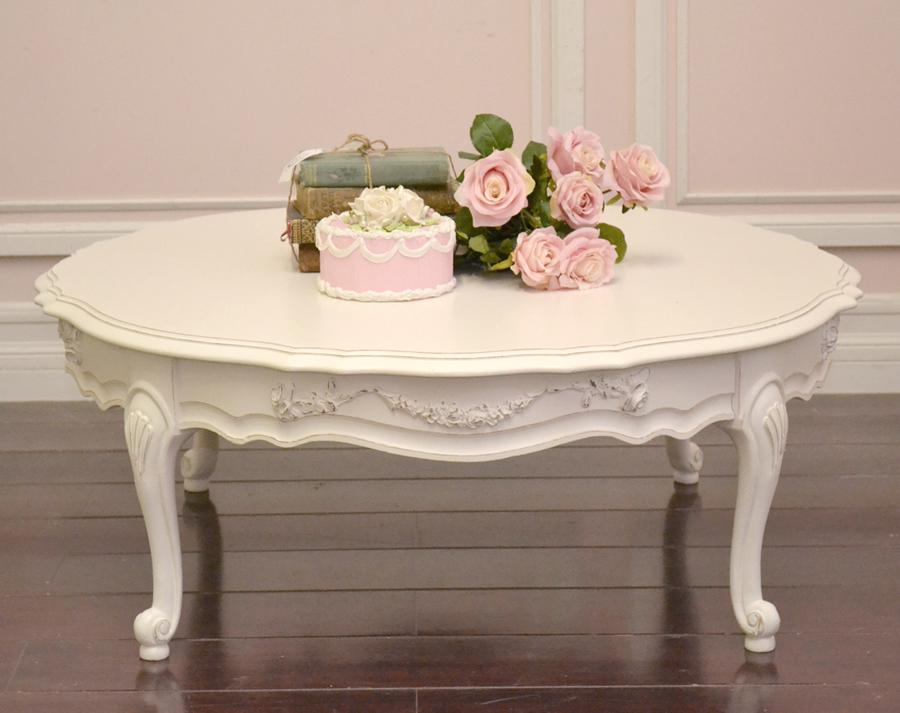 Antique White Round Coffee Table Starrkingschool
