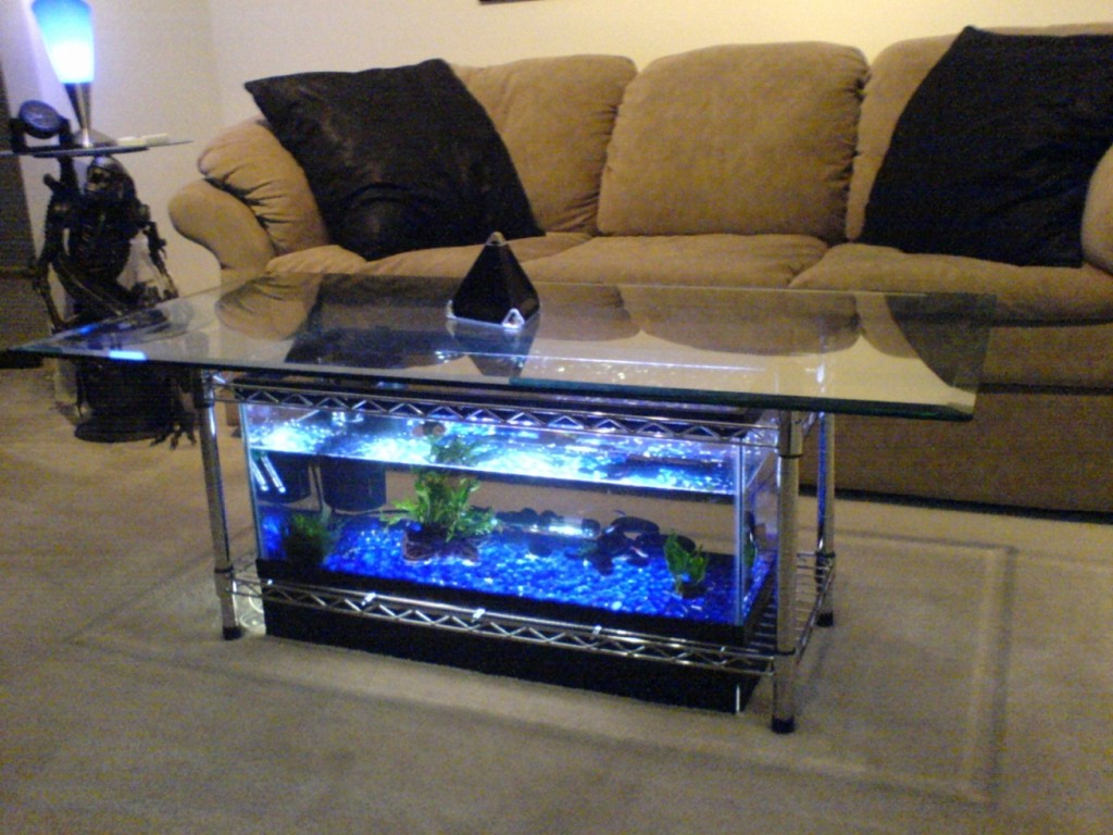 Aquarium Coffee Table with Large Top