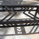 Black Metal Coffee Table