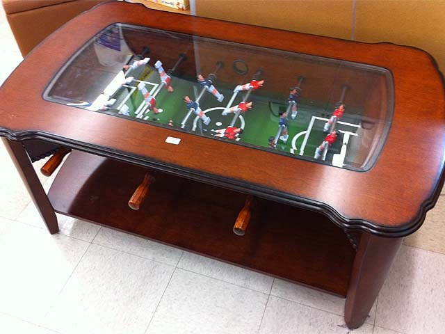 Brown Foosball Coffee Table Coffee Tables - Foosball coffee table with stools