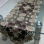 Brown Runner as Coffee Table Cover