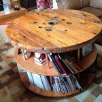 Coffee Table Made of Cable Spool