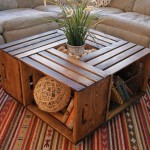 Coffee Table of Wooden Crates