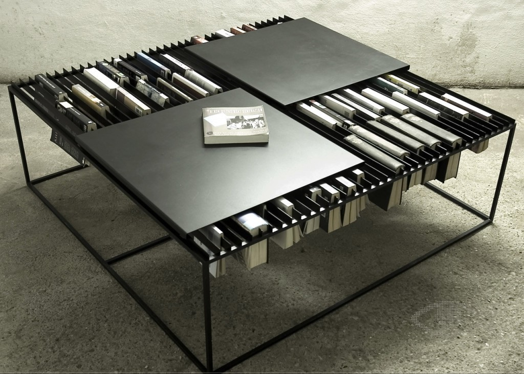 Coffee Table with Interesting Idea of Book Storage
