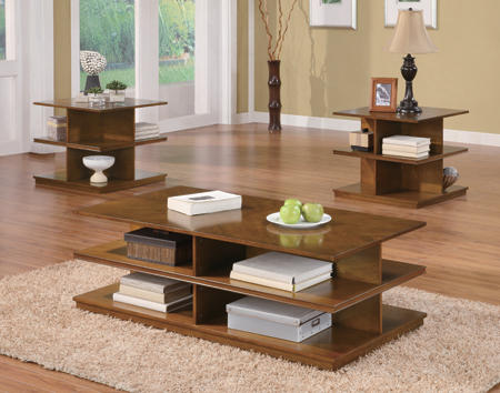 Coffee Table with Shelves Set