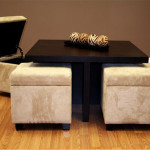 Coffee Table with Soft Seatings