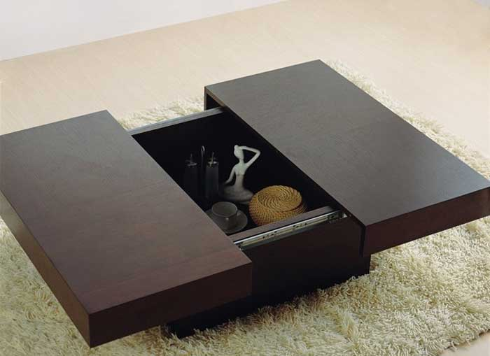 Coffee Table with Storage Sliding Top