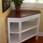 Coner Table with Shelves