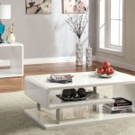 Contemporary Coffee Table in White