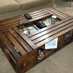 Crate Coffee Table with Low Center