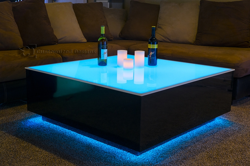 Coffee Table As Ergonomic LEDs Furniture Gadget