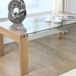 Durable Wood Metal Glass Coffee Table
