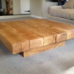Easy Rustic Wood Coffee Table