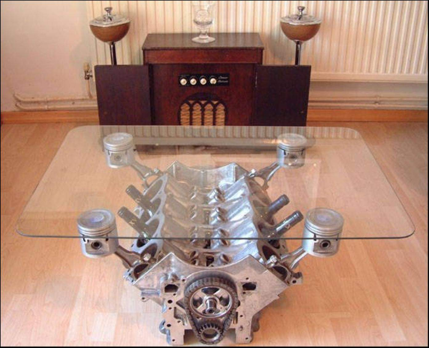 Nice Elegant Engine Coffee Table Image And Description