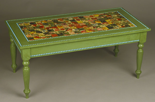 Exotic Painted Coffee Table Image And Description
