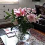 Fresh Flowers as Coffee Table Accessories