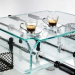 Glass Foosball Coffee Table