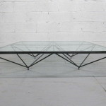 Glass and Metal Coffee Table with Tiny Legs