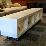 Ikea Lack Shelving Unit using as Coffee Table