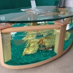 Large Aquarium Coffee Table with Use of Wood