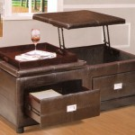 Lift Top Coffee Table with Drawers