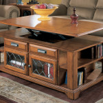 Lift Top Coffee Table with Shelves