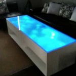 Light Blue Led Coffee Table
