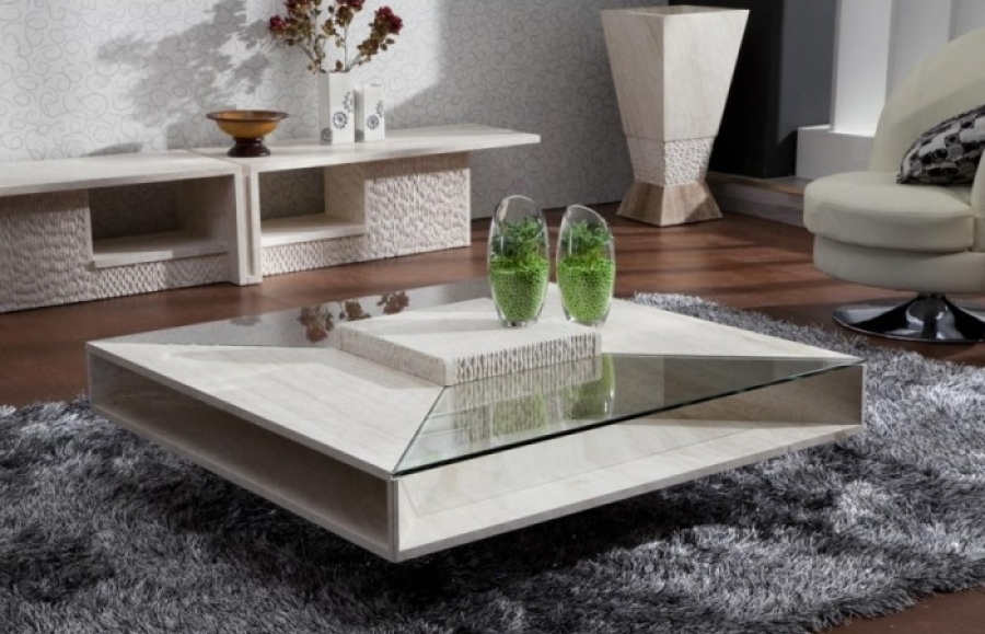 Square Marble Coffee TableCoffeTable