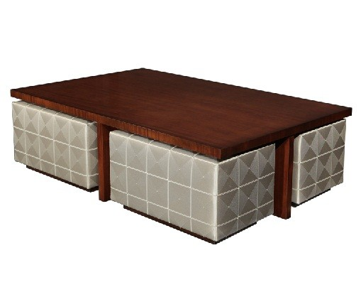 Mahogany Coffee Table with 4 Seating Places