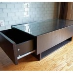 Massive Ikea Coffee Table with Glass Top